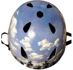 Belle Helmets Hand-Painted Blue Sky   Eleanor's