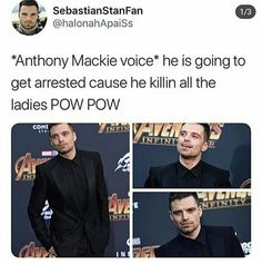 Chris Pratt knows how to do a French braid and I don't even know how to properly tie my hair! Anthony Mackie, Marvel Characters, Marvel Actors, Marvel Movies, Stucky, Winter Soldier, Sebastian Stan, Avengers Memes, Marvel Avengers