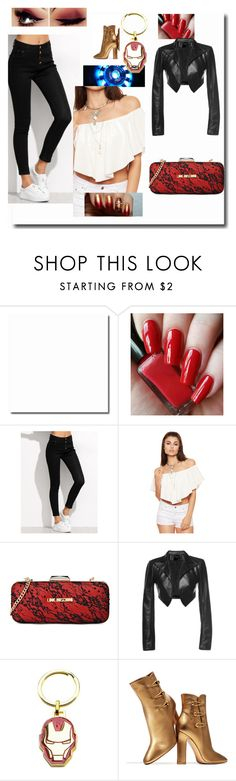 """""""Female Iron Man"""" by angel-oasis on Polyvore featuring Reactor, WearAll, Love Moschino, Leka, Marvel and Gianvito Rossi"""