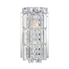 Alico Princess Crown 1 Light Vanity In Chrome And Clear Crystal Glass