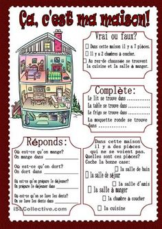 Printing Ideas Printables Collage Sheet How To Learn French At Home French Language Lessons, French Language Learning, French Lessons, French Flashcards, French Worksheets, French Teaching Resources, Teaching French, How To Speak French, Learn French
