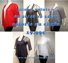 gilet manches longues tout en tulle disponible du 46/48 a 54/56 en blanc, écru, noir ou bleu marine 100% polyester FABRICATION FRANÇAISE