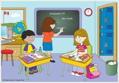 Kids in classroom Family Guy, Classroom, Illustration, Kids, English, Fictional Characters, Art, Class Room, Young Children