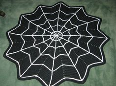 Spider Web Rug Crochet Pattern pdf  #AFPOUNCE