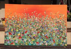 Art Craft Place by Erika Ascencio.Wild flowers,acrylic painting made in Saudi Arabia by Mexican  Artist  living in Riyadh.