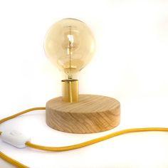 Minimal Handmade Dot Lamp Wooden Lamp Handmade Lights by Lambater