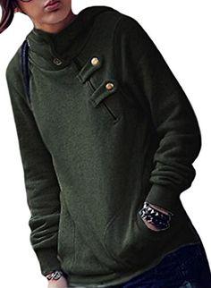 938c19ed22c6 XTX Women Casual Korean zipper Plus Size Hoodies Thick Sweater Green XS ***  ** AMAZON BEST BUY ** #KoreanFashion. Korea Japan Bazaar · Korean Fashion