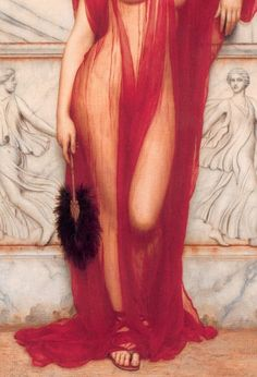 La belleza es parte de la perfección. John William Godward, Athenais, 1908. Beautiful for a Woman's Dressing Room.