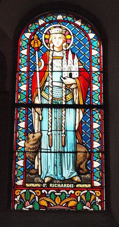 Saint Richardis of Swabia (840 - 894/896). Holy Roman Empress and Queen of the Franks from 884 to 888. She was married to Charles the Fat and had no children. She was accused of adultery but passed the trial by fire. She later became a saint.