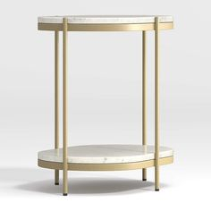 Lila Oval Nightstand + Reviews | Crate and Barrel Unique Furniture, Custom Furniture, Bedroom Furniture, Furniture Purchase, Crate And Barrel, Marble Nightstand, Marble Shelf, Brass Bed, Old Chairs