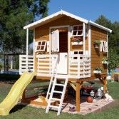 Wood Outdoor Playhouses for Girls and Boys from Green House