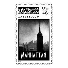 Dramatic Black & White Empire State Building Stamp