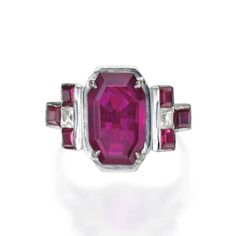 Heritage House Sotheby's International Realty - Platinum, Ruby and Diamond Ring, J.E. Caldwell - Sotheby's