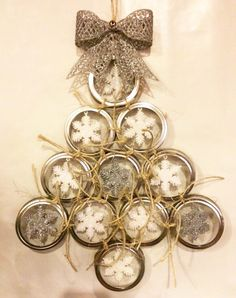 A personal favorite from my Etsy shop https://www.etsy.com/listing/255478841/mason-jar-lid-wreath-and-ornaments