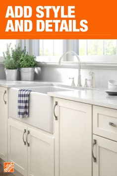 The Home Depot has everything you need for your home improvement projects. Click through to learn more about cabinet hardware and more. Classic White Kitchen, Kitchen Inspirations, Cabnits Kitchen, White Kitchen Remodeling, Kitchen Models, Kitchen Remodel, Kitchen Decor, Home Kitchens, Kitchen Renovation
