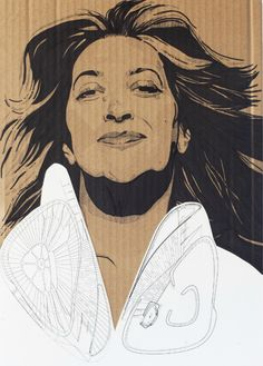 Zaha Hadid. Chanel Mobile Art. Din-A3 (297x420 mm) by Ana Cubas.