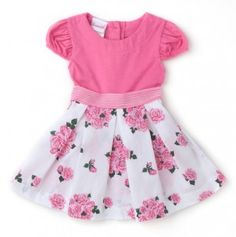 Infant Shortsleeve Floral Knit Dress #totsy