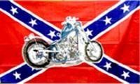 Rebel flag with Harley Davidson Motorcycle - - - 3x5 foot confederate flag by WILDFLAGS. $2.49. This 3 x 5 foot business message advertising flag is made from super polyester that is durable, yet lightweight enough to fly in even the lightest breeze. It has 2 brass grommets firmly attached to heavy canvas on the inner fly side. Bright, vivid colors and colorfast to reduce fading. Many titles to choose from.