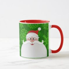 Holly Jolly Christmas Santa 11 oz Combo Mug - home gifts ideas decor special unique custom individual customized individualized