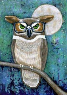 owl with specs.