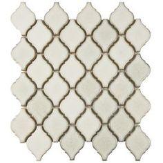 """Arabesque 2-3/4"""" x 1-7/8"""" Porcelain Glazed Mosaic in Selene"""