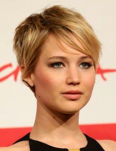jennifer Lawrences hair   Cassia Jade: Quicky: Jennifer Lawrence's new hair