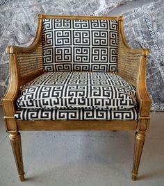 Pair of chairs Hollywood Regency MCM by redesignrestoration
