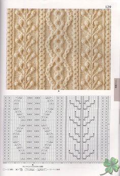 260 Knitting Pattern Book by Hitomi Shida 2016 — Yandex. Cable Knitting Patterns, Knitting Stiches, Crochet Stitches Patterns, Knitting Charts, Lace Knitting, Stitch Patterns, Vogue Knitting, Tricot D'art, Crochet Cable