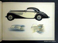 Mercedes Benz 1938 320 Prestige Brochure w/ German Text
