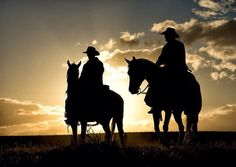 This is where the cowboy rides away