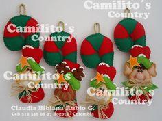 BASTONES NAVIDEÑOS Christmas Humor, Christmas Crafts, Xmas, Christmas Ornaments, Theme Noel, Country, Santa, Holiday Decor, Pink