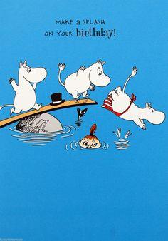 Moomin birthday card - MAKE A SPLASH ON YOUR BIRTHDAY! | £2.15 Buy it now