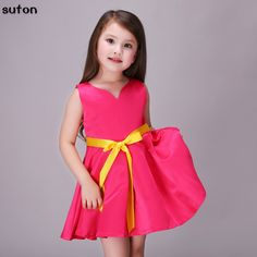 $9.24 (Buy here: https://alitems.com/g/1e8d114494ebda23ff8b16525dc3e8/?i=5&ulp=https%3A%2F%2Fwww.aliexpress.com%2Fitem%2FBaby-Girls-Dress-2017-Summer-new-Cotton-rose-red-sweet-formal-dress-kids-clothing-cute-bow%2F32780775590.html ) Baby Girls Dress 2017 Summer new Cotton rose red sweet formal dress kids clothing cute bow belt Baby girls party Princess dress for just $9.24