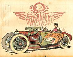 Artwork from Lorenzo's forthcoming comic book STRANSKI.