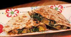 Butternut Squash and Kale Quesadillas!