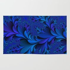 Society6 Blue Rug 4' x 6' ($28) ❤ liked on Polyvore featuring home, rugs, blue area rugs and blue rug