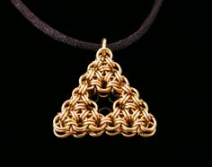 Chainmaille Triforce Pendant