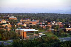 Aerial photo of the UNB Fredericton campus.    Photo provided by Tourism Fredericton.