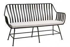 SISSY, Gartenbank Metall 3 Sitzer Gartenmöbel
