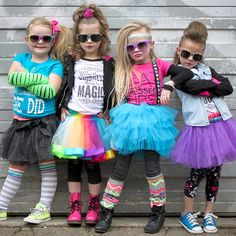 Take a look at the tutu day it's a twirly world event on zulily today! Kids Rockstar Costume, Kids Costumes Girls, Girl Costumes, Kids Outfits, 80s Theme Party Outfits, 80s Party Costumes, Kids 80s Costume, 80s Rocker Costume, Halloween Costumes