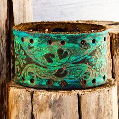 March Cuff Bracelet Spring Jewelry OOAK by rainwheel on Etsy, $50.00