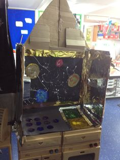 Space station, Early Years role play. Space Theme, Astronauts, Space Station, Eyfs, Role Play, Arcade Games, Aliens, Preschool, Education