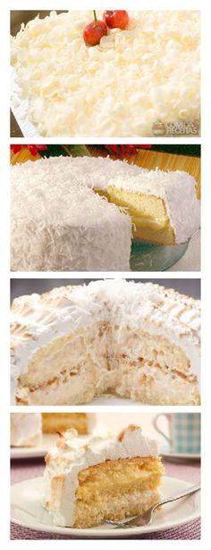 Bolo Baba-de-Moça salve este pin Bata as claras em ponto de neve e sem parar de bater acrescente as gemas #bolo#torta#doce#sobremesa#aniversario#pudim#mousse#pave#Cheesecake#chocolate#confiteria