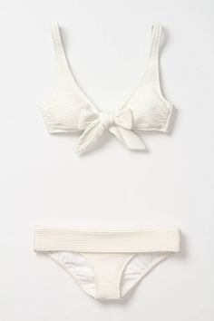 cdc32a49f1 Loures Bow Bikini Top - Anthropologie.com White Swimsuit