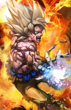 Well since I did all the forms of Goku, (though I skipped super saiyan 2) might as well do Super Saiyan 4 as well. Though this isnt really my favorite Super Saiyan form, it had a cool move called 1...