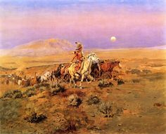 Charles Marion Russell (1864-1926) The Horse Thieves Oil on canvas 1901