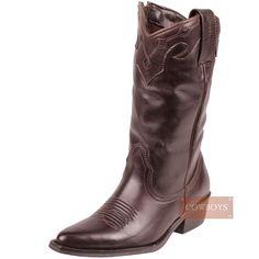 bota infantil Texana Bico Fino   Bota infantil feminina importada. No modelo texana com bico fino e tom café, é um linda bota para sua pequena cowgirlque adora se vestir no estilo. Uma ótima opção de presente.
