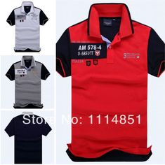 Embroidered Brand Men Slim Fit Polo Shirts For Men Aeronautica militare Air Force , Branded Short Sleeve Polo Shirt Of Top&Tees $18.30 - 18.80