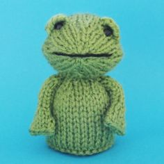 Frog Toy Knitting Pattern by Jelly Bums - comes with instructions to make a toy with 3 leg options, finger puppet and egg cosy. Available from https://www.etsy.com/uk/shop/Jellybum from 8th April 2014