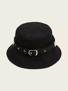 Shop Belt Decor Bucket Hat at ROMWE, discover more fashion styles online. Summer Hats For Women, Hats For Men, Mens Bucket Hats, Outfits Mujer, Hats Online, Mens Caps, Party Hats, Riding Helmets, Autumn Fashion